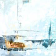 Blue Abstract 12m1 Art Print