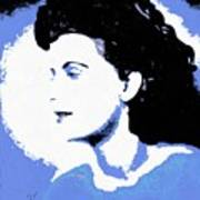 Blue - Abstract Woman Art Print