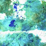 Blue And Green Abstract - Imagine - Sharon Cummings Art Print