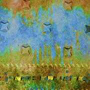 Blue And Yellow Abstract Art Print