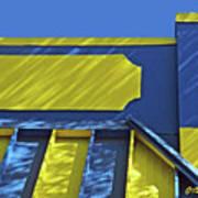 Blue And Yellow Shadows Art Print