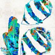 Blue Angels Fish Art By Sharon Cummings Art Print