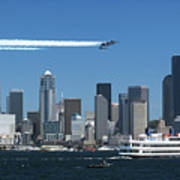 Blue Angels Over Seattle D028 Art Print