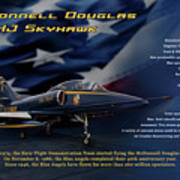 Blue Angels Ta-4j Skyhawk Art Print