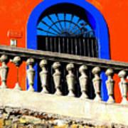 Blue Arch 1 By Michael Fitzpatrick Art Print