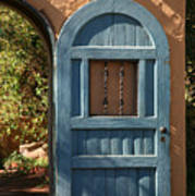 Blue Arch Door Art Print