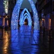Blue Arch Art Print