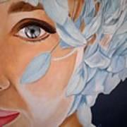 Blue Audrey Art Print