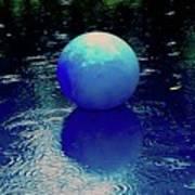 Blue Ball 4 Art Print