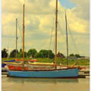 Blue Barge Art Print