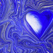 Blue Beats Art Print