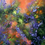 Blue Belle Sunset Art Print