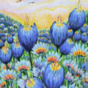 Blue Belles Art Print