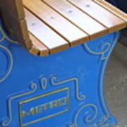 Blue Bench Art Print