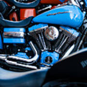 Blue Bike Art Print by Tony Reddington