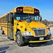 Blue Bird Vision School Bus Art Print