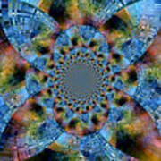 Blue Bling Art Print