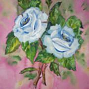 Blue Blue Roses Art Print