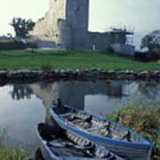 Blue Boats In Ireland Art Print
