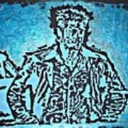 Blue Brad Art Print
