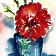 Blue Bud Vase Art Print