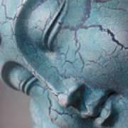 Blue Buddha Of Serenity Art Print