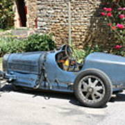 Blue Bugatti Oldtimer Art Print