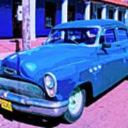 Blue Buick Art Print