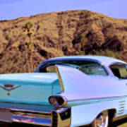Blue Cadillac Art Print