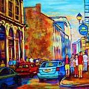 Blue Cars At The Resto Bar Art Print