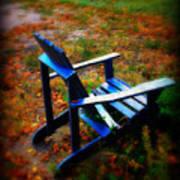 Blue Chair Art Print