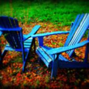 Blue Chairs Art Print