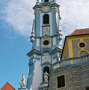 Blue Church Tower In Durnstein Art Print