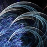 Blue Claws Art Print