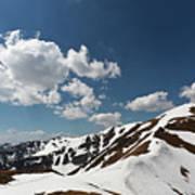 Blue Cloudy Sky Over Spring Tatra Mountains, Poland, Europe Art Print