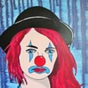 Blue Clown Art Print