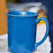 Blue Coffee Cup Art Print