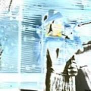 Blue Collage Art Print