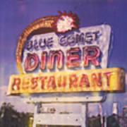 Blue Comet Diner - Hazelton Art Print