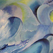Blue Concerto 1 Art Print