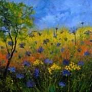 Blue Cornflowers 7761 Art Print