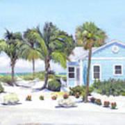 Blue Cottage On Siesta Key Beach, Access 3 Art Print
