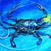 Blue Crab Abstract Art Print