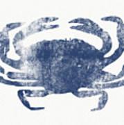 Blue Crab- Art By Linda Woods Art Print