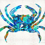 Blue Crab Art By Sharon Cummings Art Print
