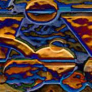 Blue Curve 3 Art Print