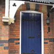 Blue Door At 49 High Art Print