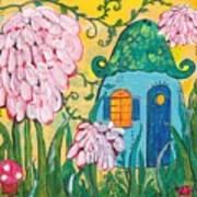 Blue Door Fairy House Art Print