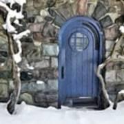 Blue Door In February Art Print