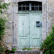 Blue Door In Vianne France Art Print